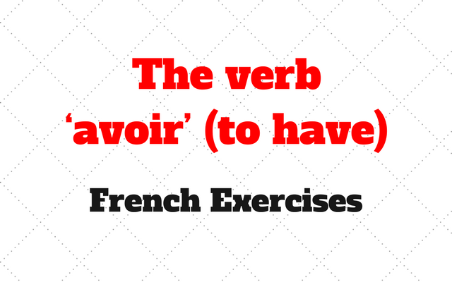 French The verb avoir