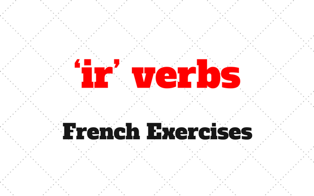 French ir verbs