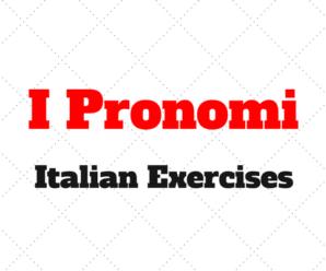 Italian Pronouns Exercises