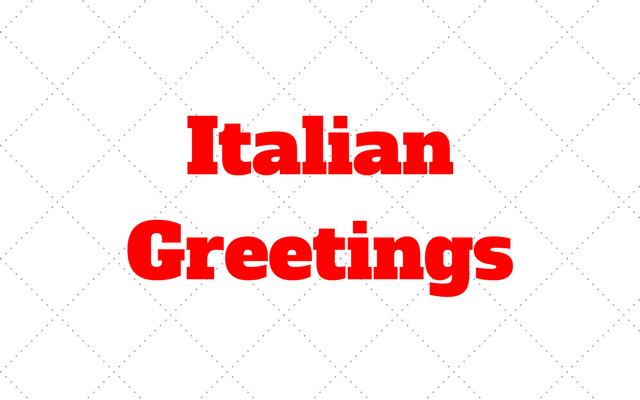 Italian greetings