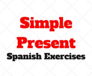 Simple Present: Spanish Online Practise