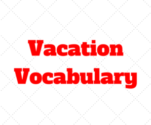 Italian Vacation Vocabulary: Basic words and phrases