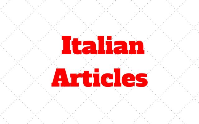 articles Italian