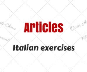 Italian Articles Exercises