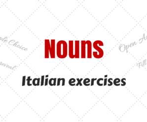 Italian Nouns Exercises