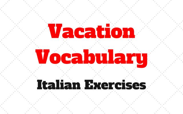 vacation italian