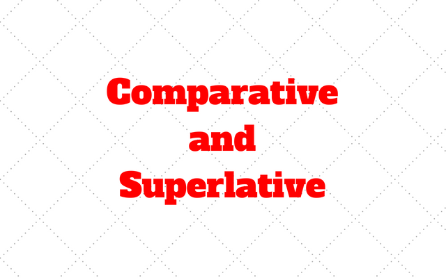 Comparative and Superlative french