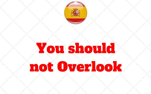You should not Overlook